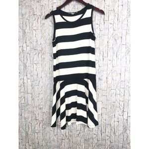 Ann Taylor Loft Black/White Stripe Dress